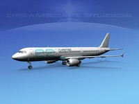scale airbus 3d dxf
