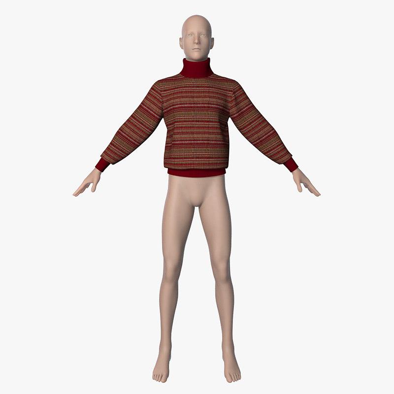 3d obj jumper mannequin