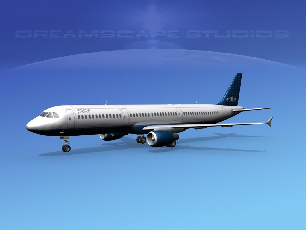 scale airbus jets 3d model