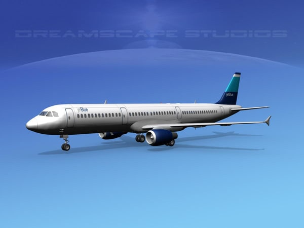 scale airbus jets 3d 3ds