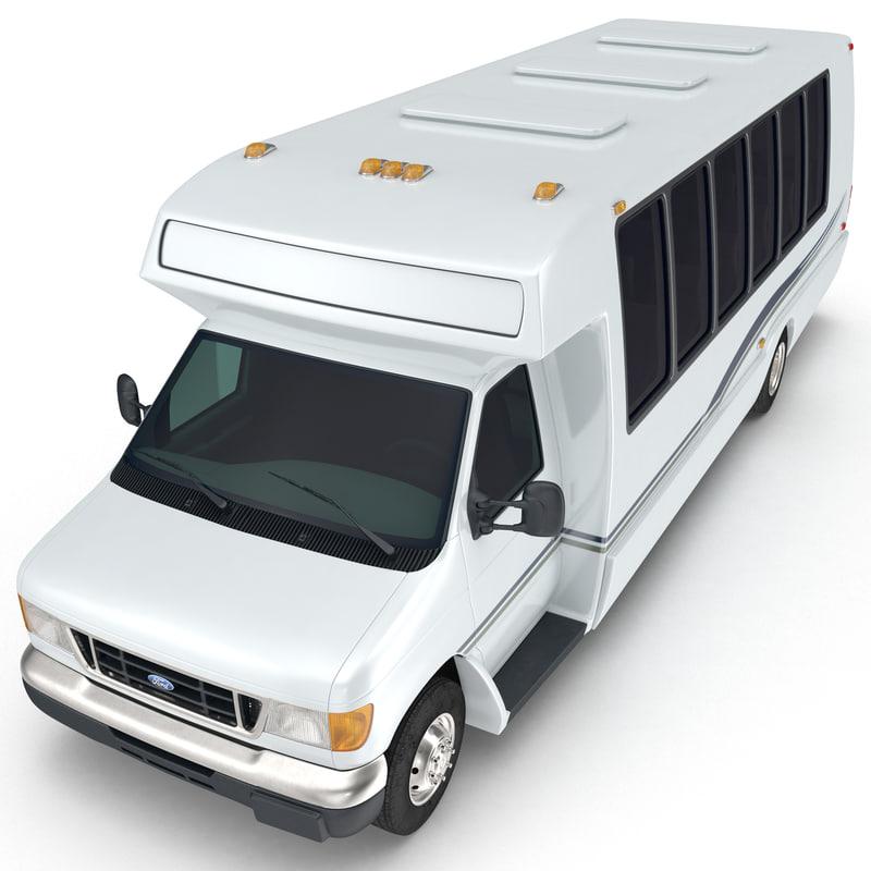 shuttle bus 3d model