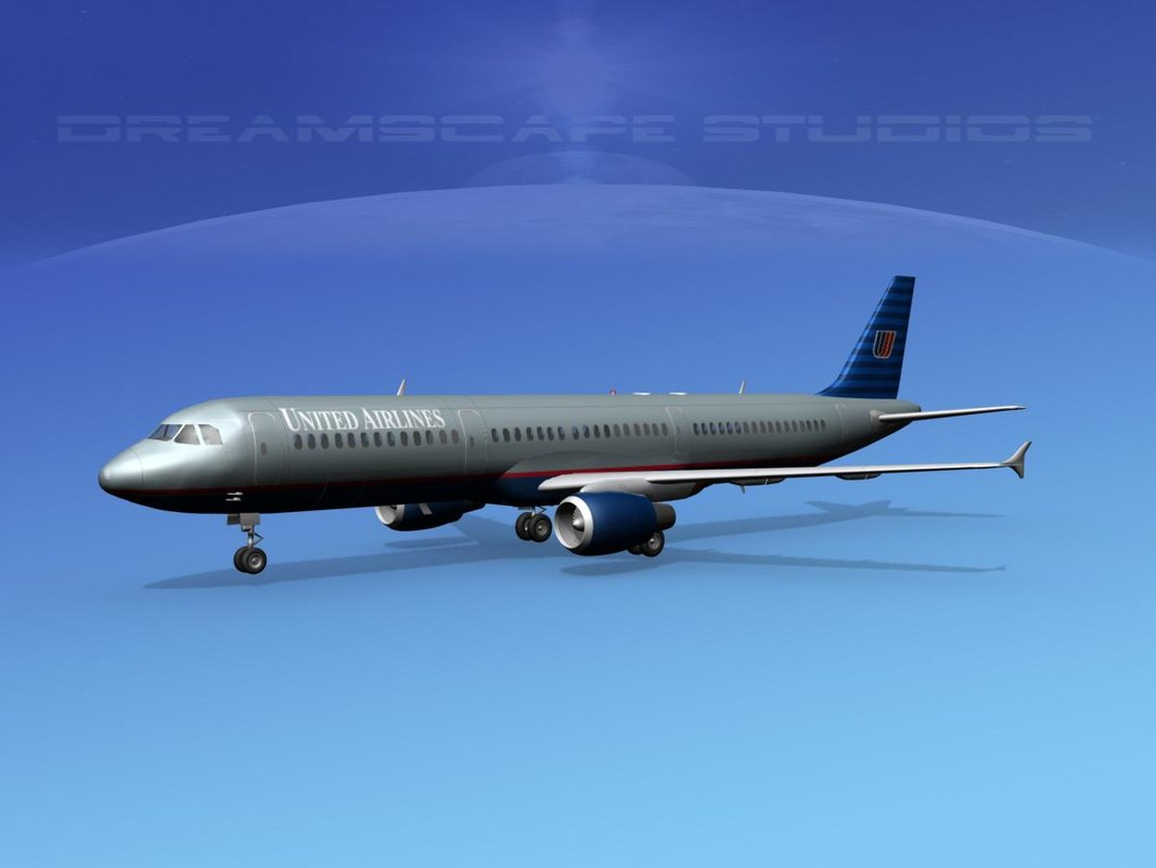 scale airline airbus 3d model