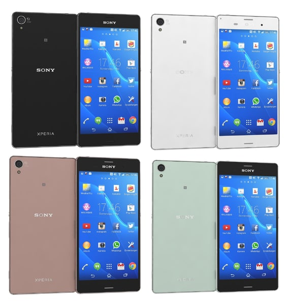 3ds max sony xperia z3 colors