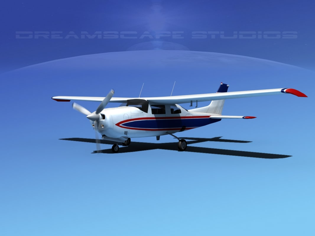 3d model of cockpit cessna 210 centurion