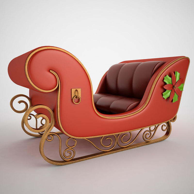 3ds max christmas sleigh