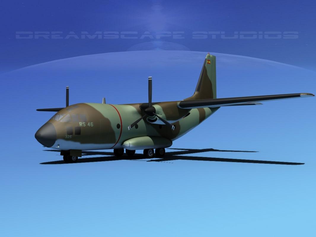3d aircraft spartan transports model