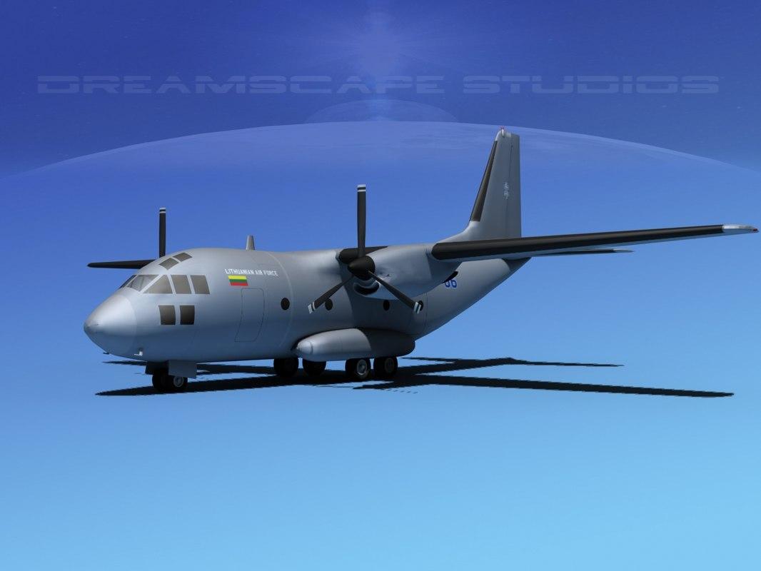 aircraft spartan military 3d dwg