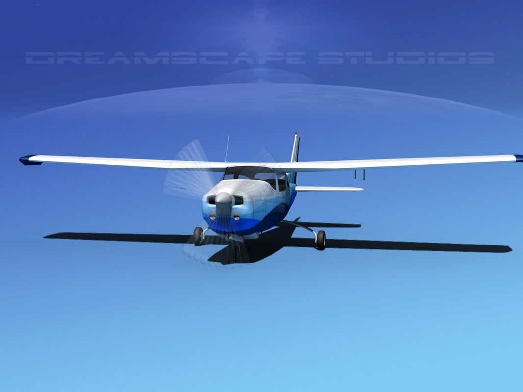 3d cockpit cessna 210 centurion model