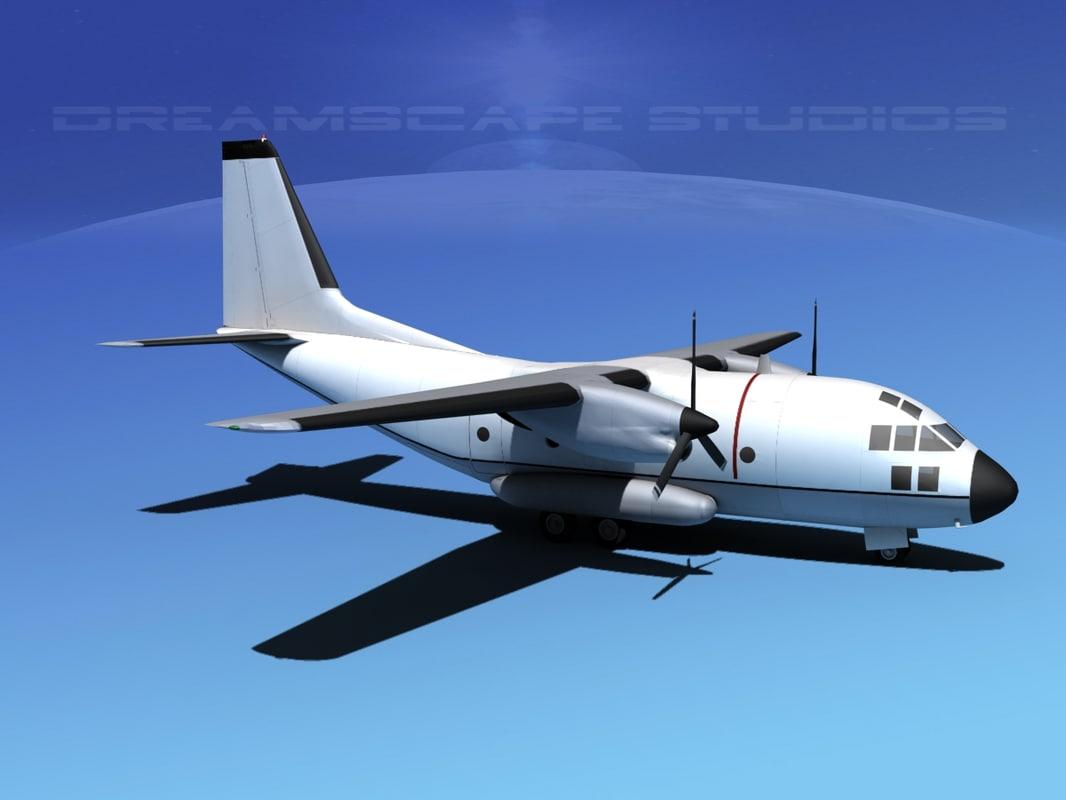 aircraft spartan transports 3d model