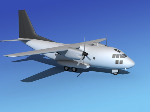 3d obj aircraft vbm c-27 spartan