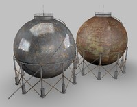 3d model industrial gas tank
