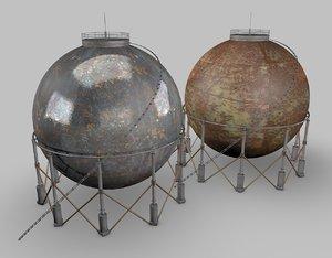 3d model industrial gas tank