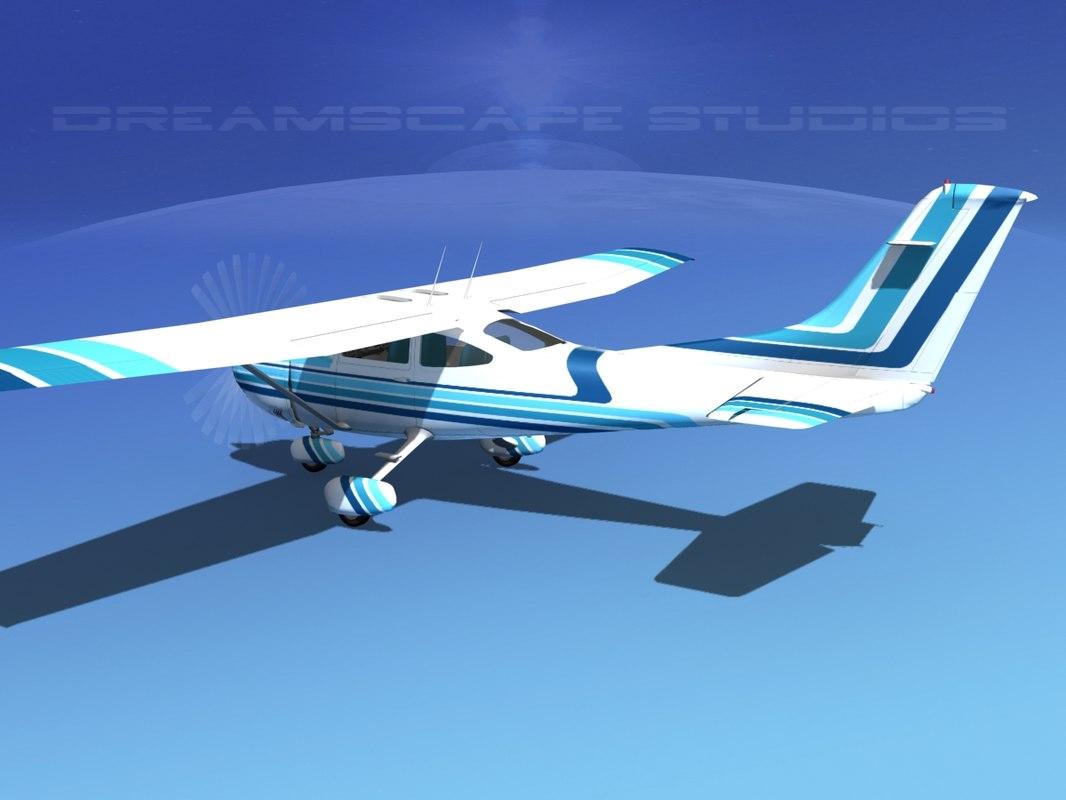 3d skylane cessna 182 model