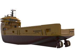 advanced sea monster 3d model