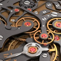 3d model watch mechanism