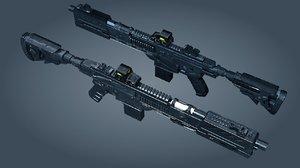 3d max weapon scifi