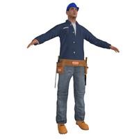worker man 3d model