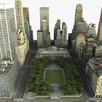 3d model manhattan district 03 city