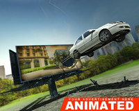 3d advertisement car animation