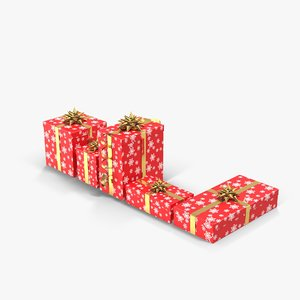 obj gift boxes red