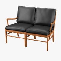 3d sofa ole wanscher