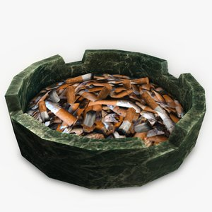 ashtray cigarette 3ds