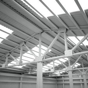 scene warehouse interior 3ds