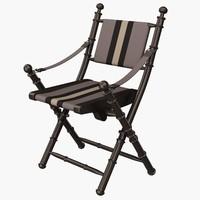 eichholtz chair folding cote 3d 3ds