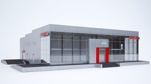 3d nissan sell center model