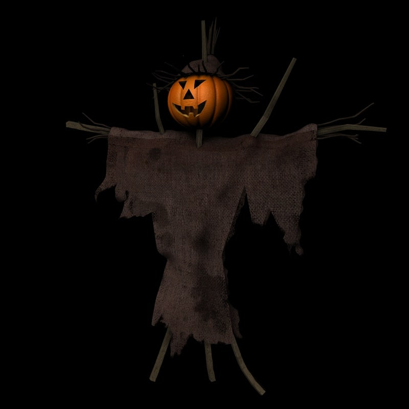3d scarecrow jack o model