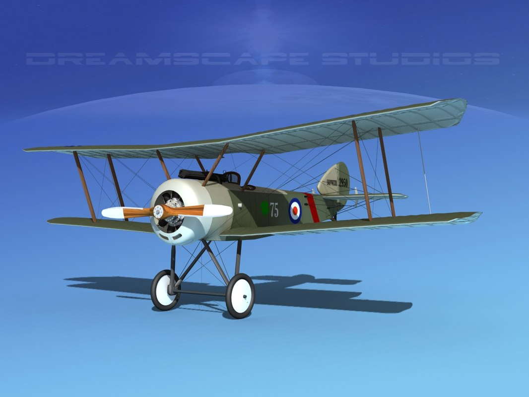 dxf cockpit fighter sopwith pup