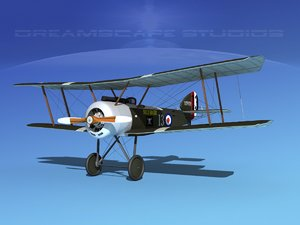cockpit fighter sopwith pup 3d max