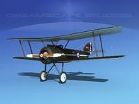 cockpit fighter sopwith pup 3d model