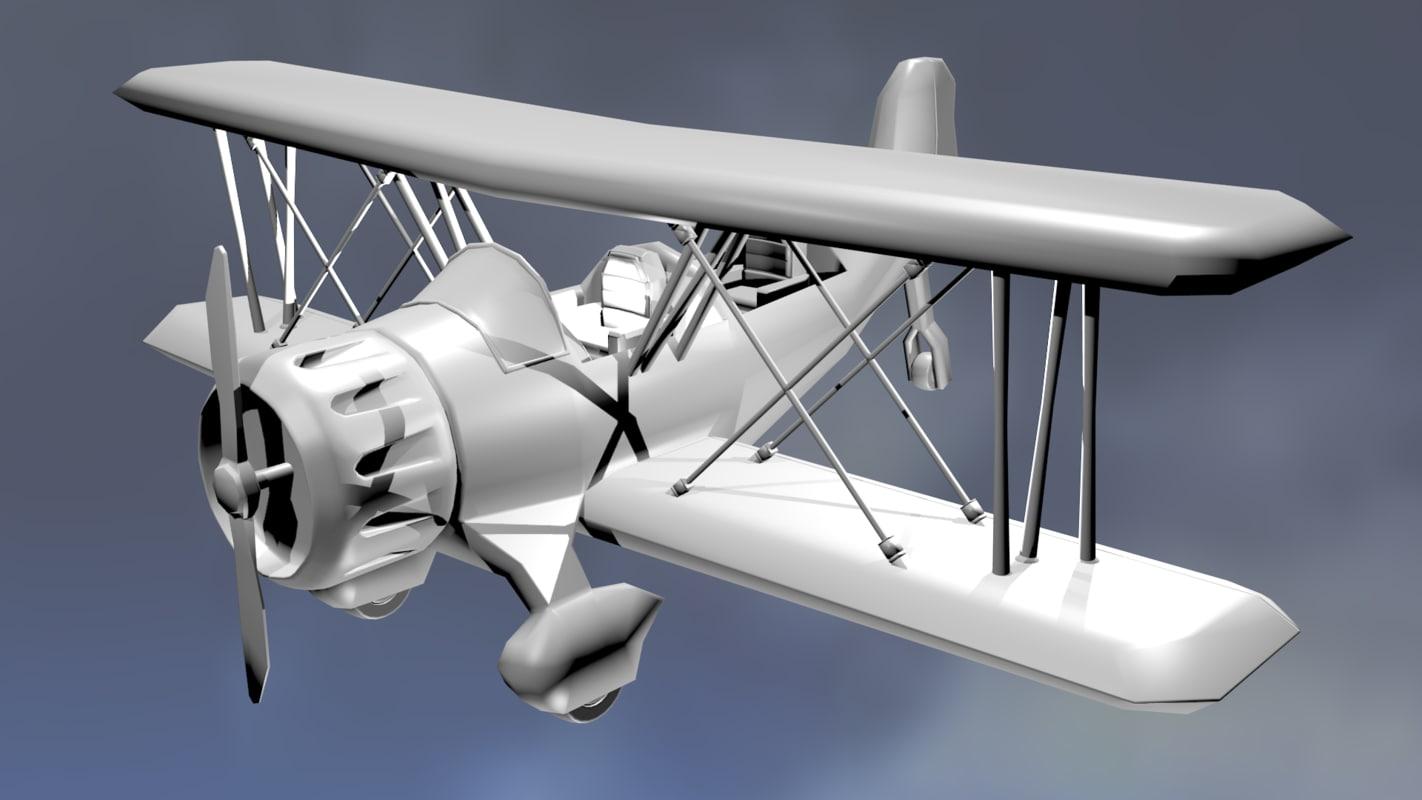 3d biplane plane