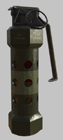 3dsmax m84 stun grenade