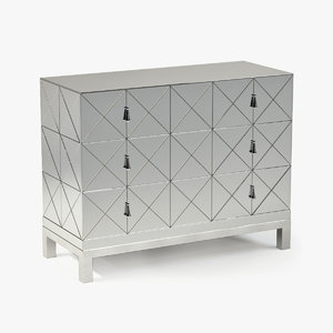 century mirrored drawer chest obj