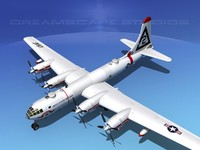scale boeing b-50 superfortress 3d max