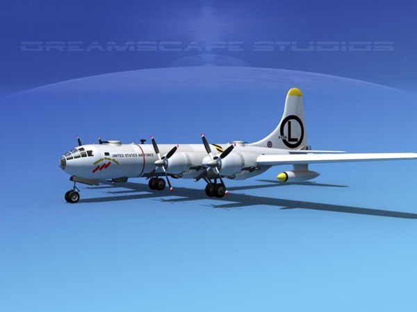 3d model scale boeing b-50 superfortress
