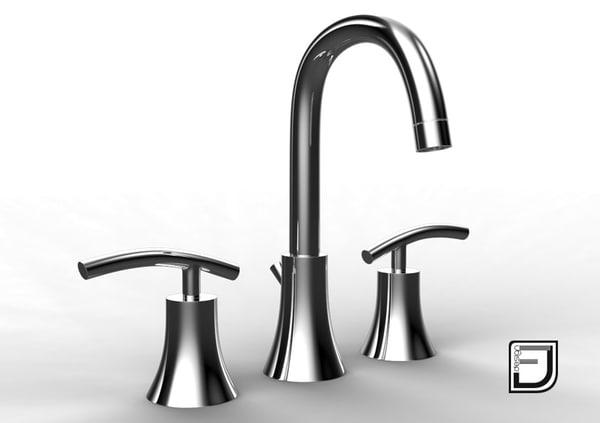 bathroom faucet 6 3d model