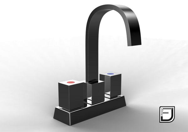 bathroom faucet 1 3d model