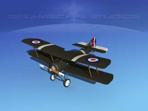 cockpit fighter sopwith pup 3d model