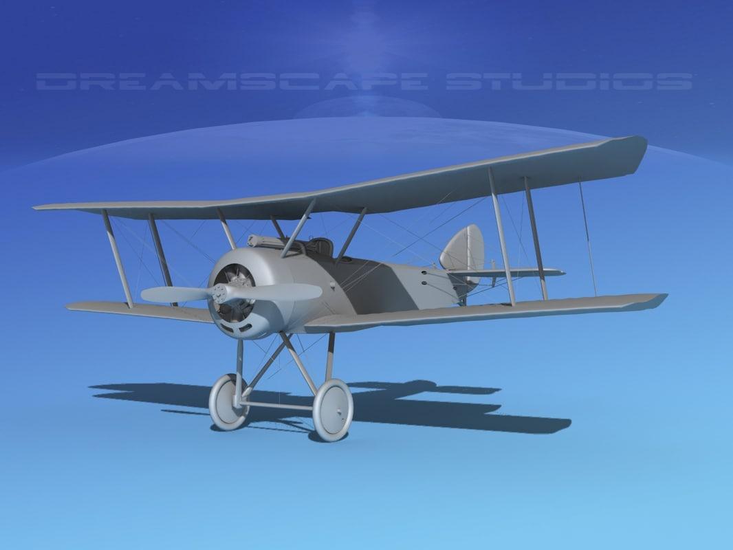3d model cockpit fighter vbm sopwith pup