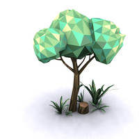 Low poly tree - set 2