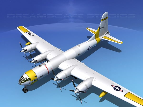 scale boeing b-50 superfortress 3d 3ds