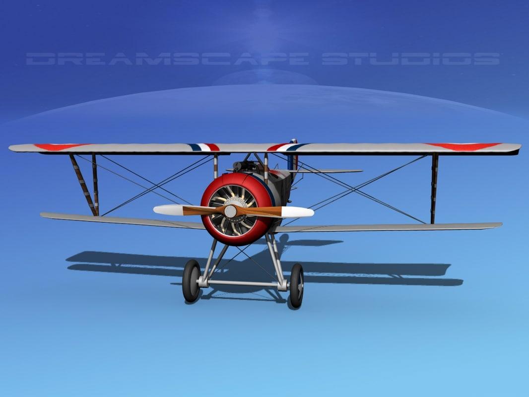 nieuport 17 fighter aircraft 3d model