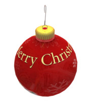 ball christmas 3d max
