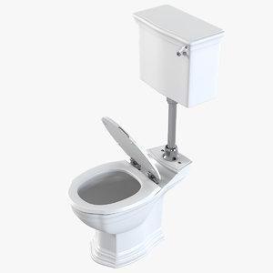 3ds max realistic devon westminster toilet