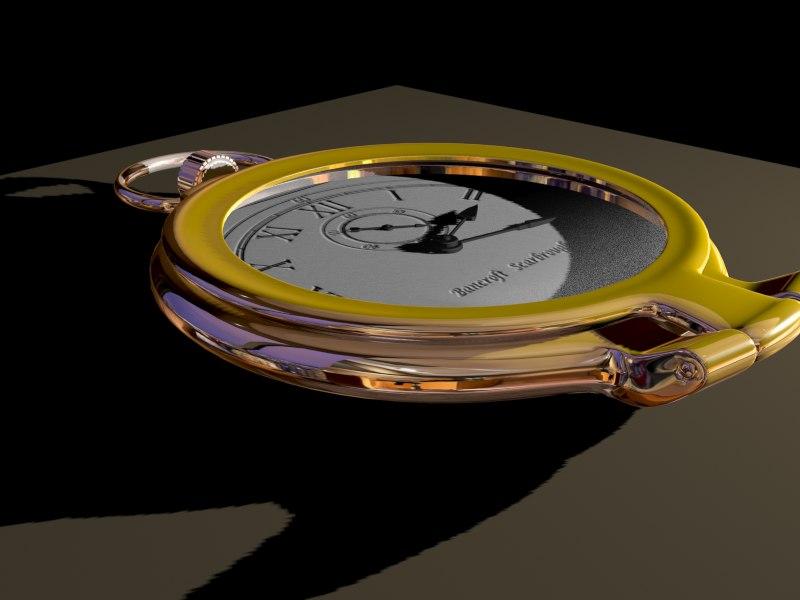 classic clock 3d model