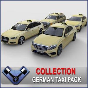 3d model german taxi