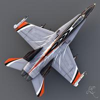 3d model f18 hornet